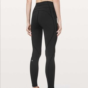 """BNWT Lululemon Time to sweat 28""""tights size 8Black"""